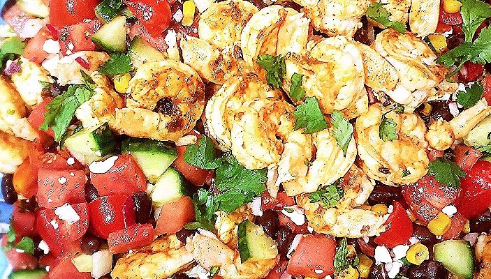 Chili, Lime and Shrimp Chopped Mexican Salad