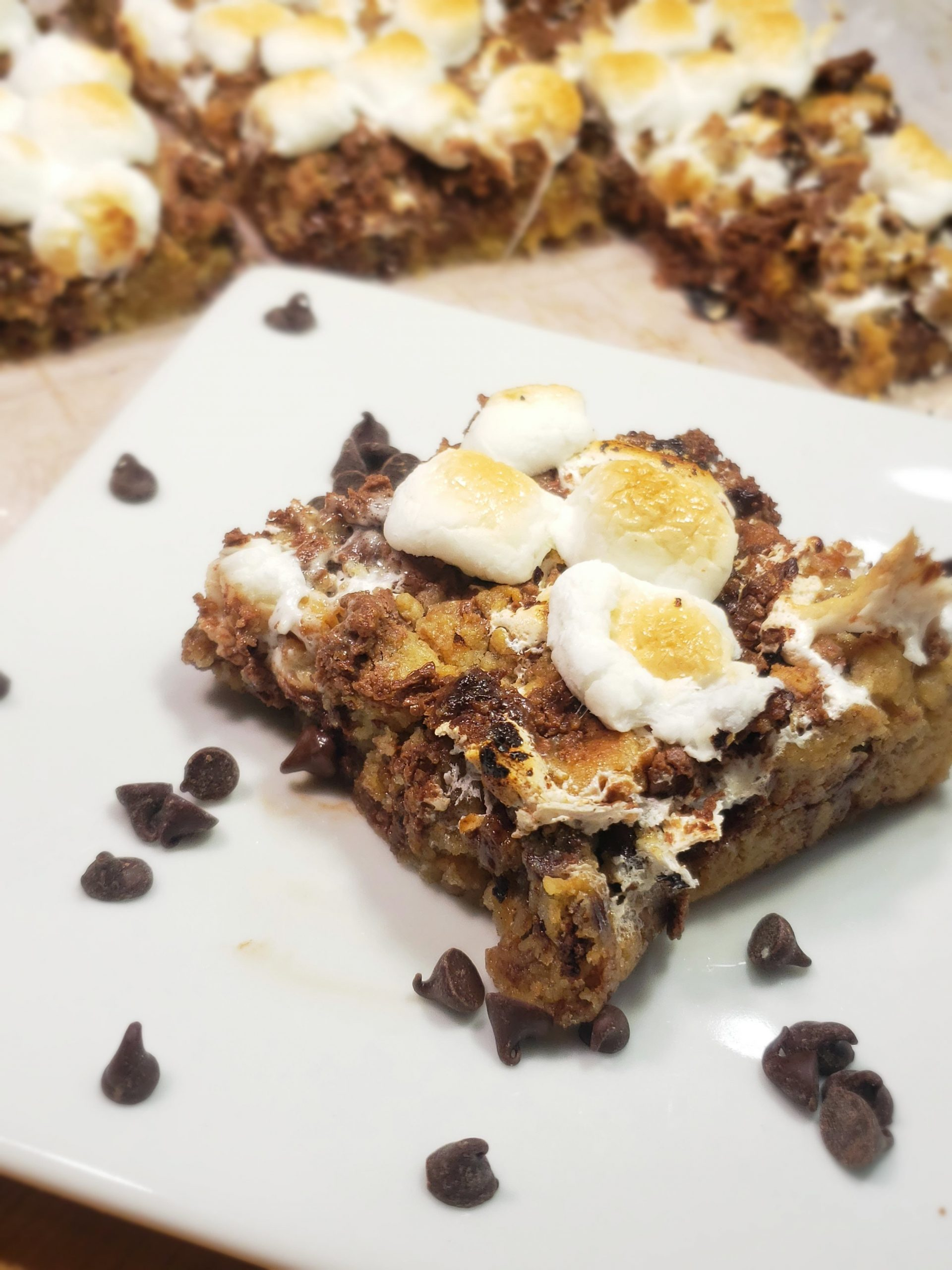 Toasty Nutella S'more Cookie Bars
