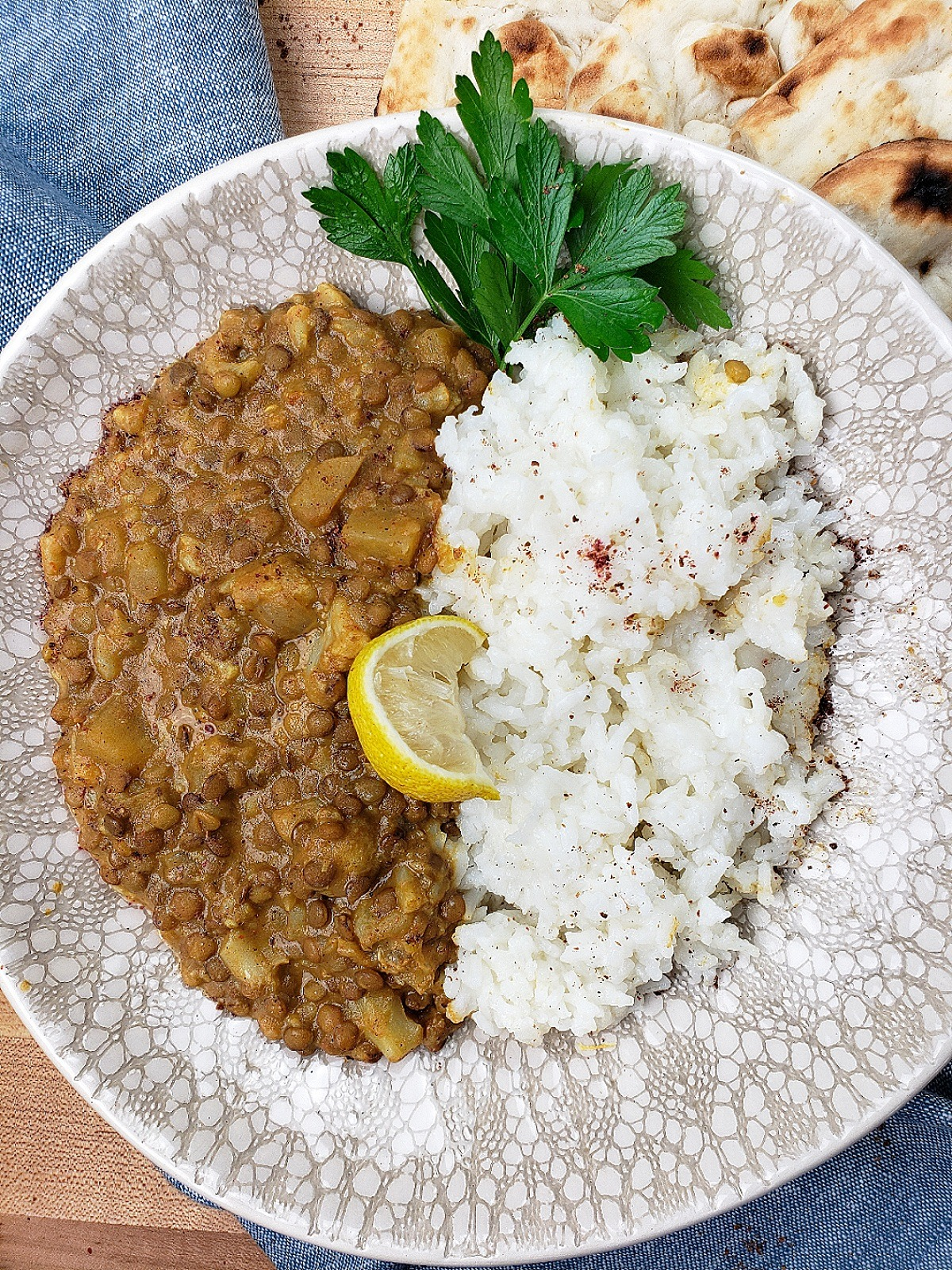 Instant Pot Lentil and Vegetable Curry