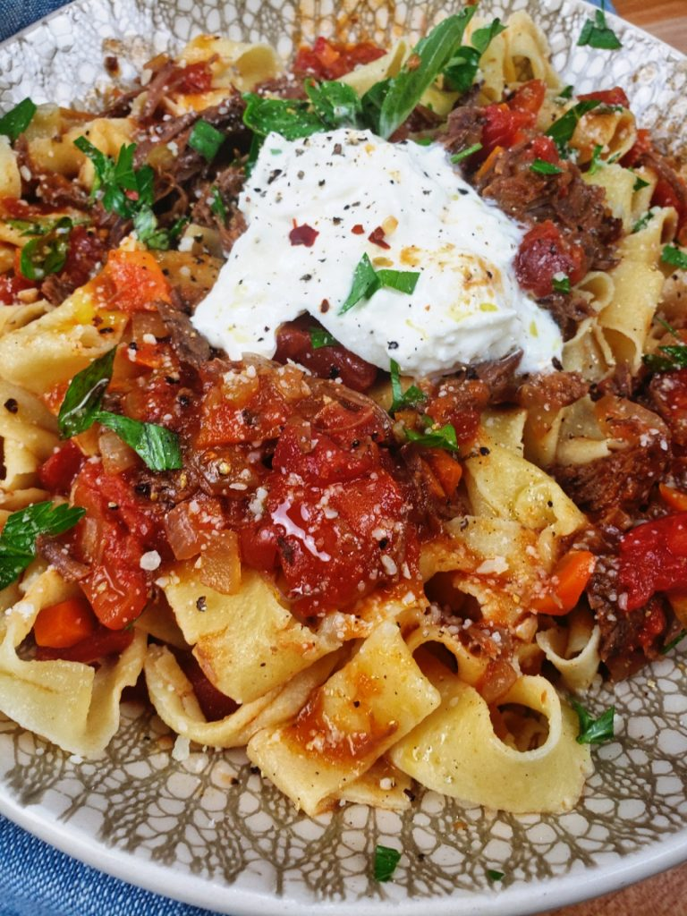 pappardelle and short rib ragu