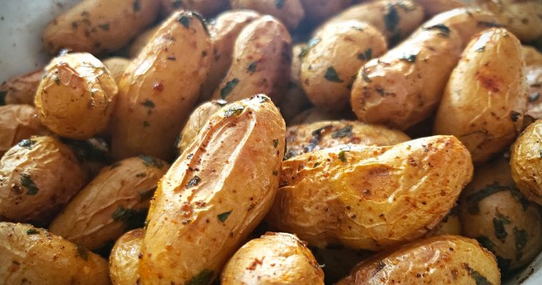 Roasted Fingerling Potatoes with Fresh Herbs