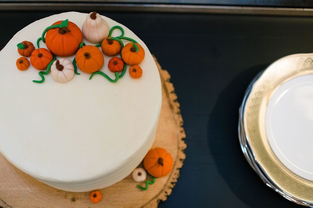 Pumpkin Spice cake with a Vanilla Buttercream frosting