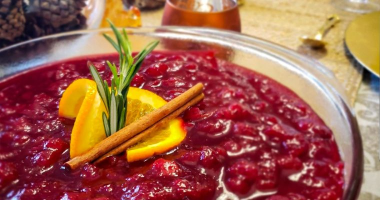 Cranberry Sauce with Apples and Orange Zest
