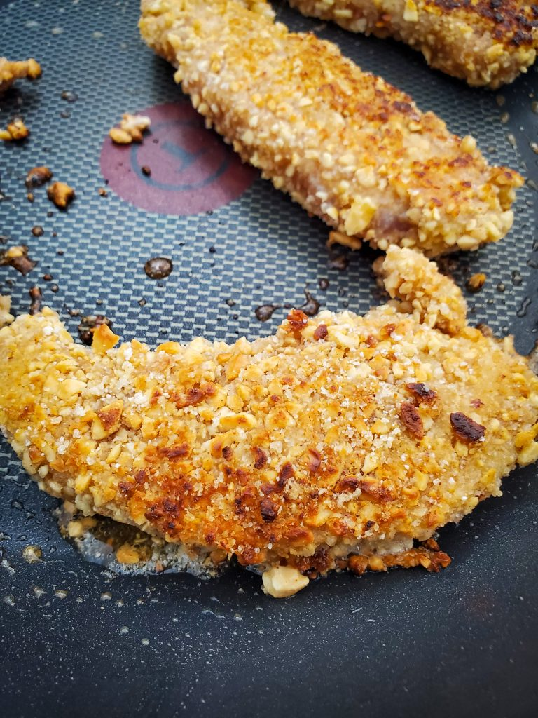 fry peanut crusted chicken tenders