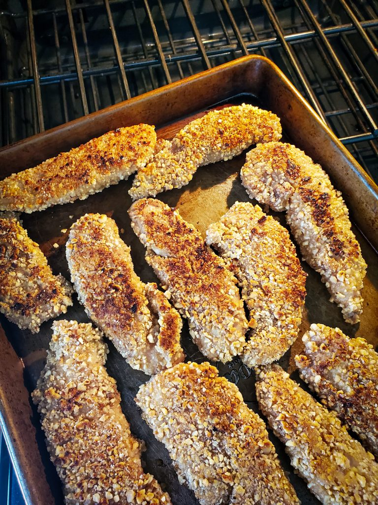 bake peanut crusted chicken tenders