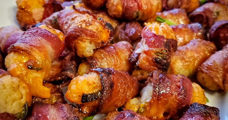 Bacon Wrapped Jalapeno & Cheddar Tater Tots