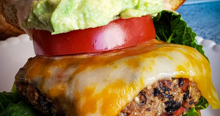 THE BEST Chipotle Black Bean Quinoa Burgers